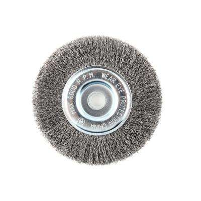 6 in. x 5/8 in. Crimped Wire Wheel Brush