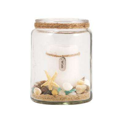Harbor 5 in. Clear Glass Candle Holder