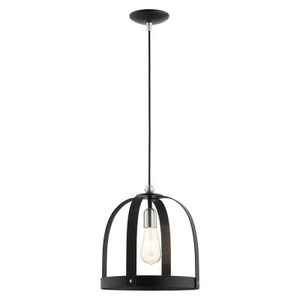 Stoneridge 1 Light Textured Black  Pendant
