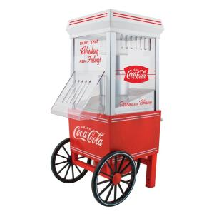 Coca-Cola 4 oz. Red Hot Air Popcorn Machine with Cart