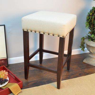 Romero 24 in. Espresso Cushioned Bar Stool