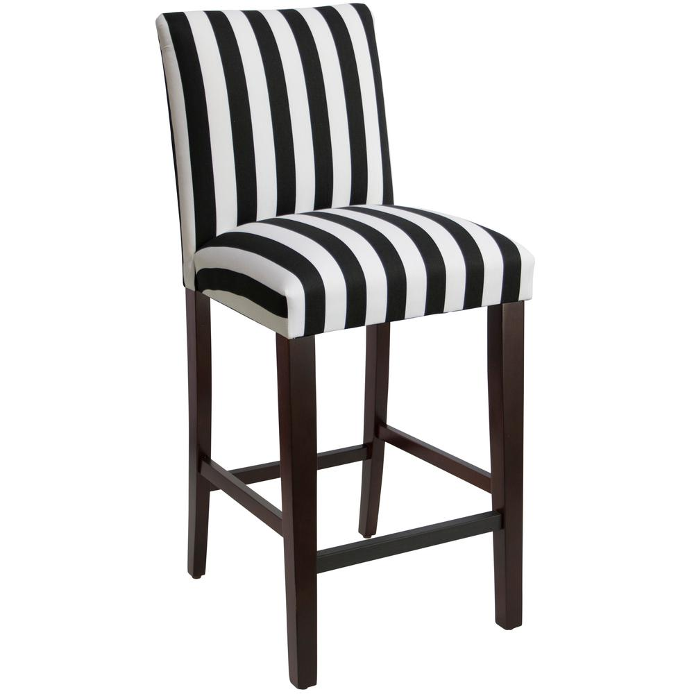 Terrific Canopy Stripe Black And White Uptown Bar Stool Gmtry Best Dining Table And Chair Ideas Images Gmtryco