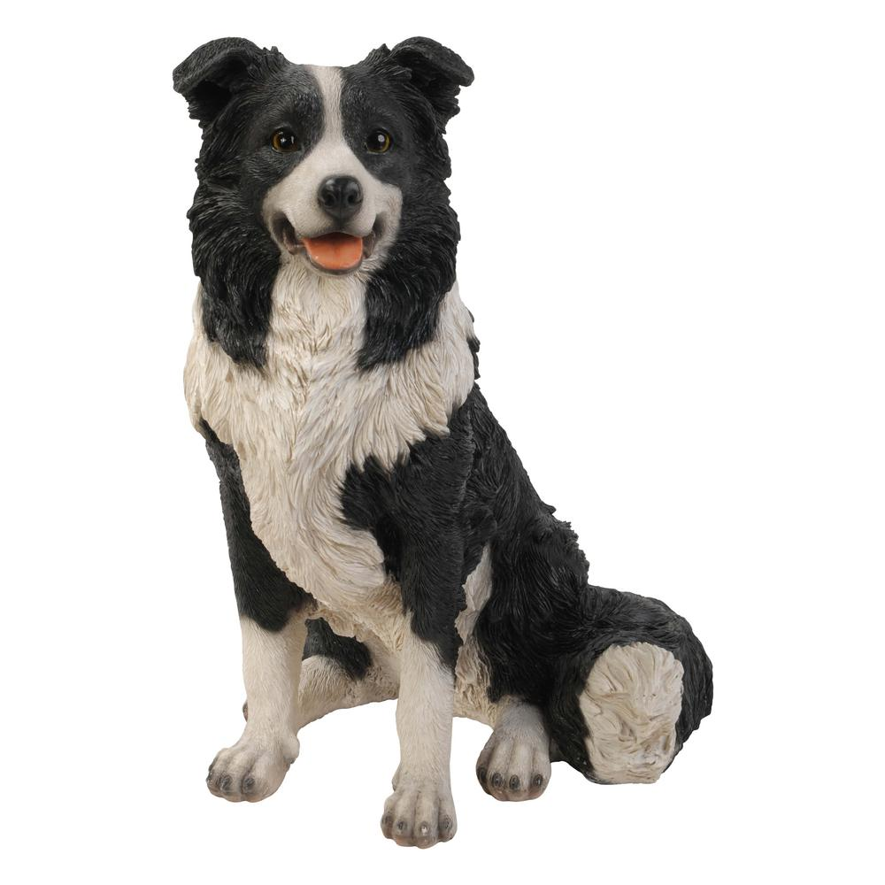 Hi Line Gift Border Collie Sitting Statue 87689 The Home