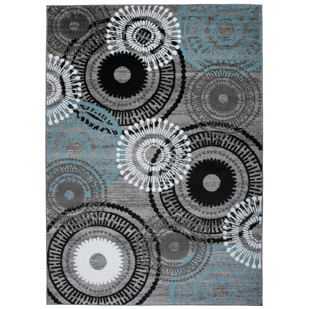 Rug Gallery Modern Circles Blue Gray