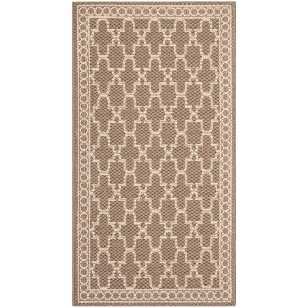 Safavieh Courtyard Dark Beige/Beige 2.6 ft. x 5 ft. Area Rug