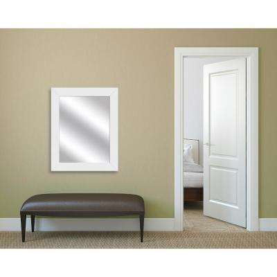 31 in. x 25 in. White Framed Mirror