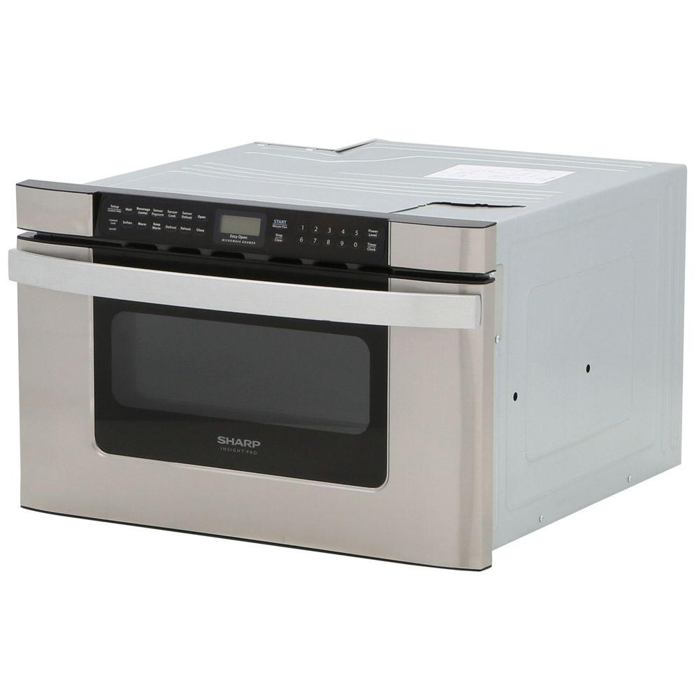 Sharp 24 In W 1 2 Cu Ft Built Microwave Drawer Stainless Steel With Sensor Cooking