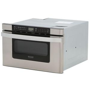 Sharp 24 In W 1 2 Cu Ft Built Microwave Drawer Stainless Steel With Sensor Cooking Kb6524psy The Home Depot