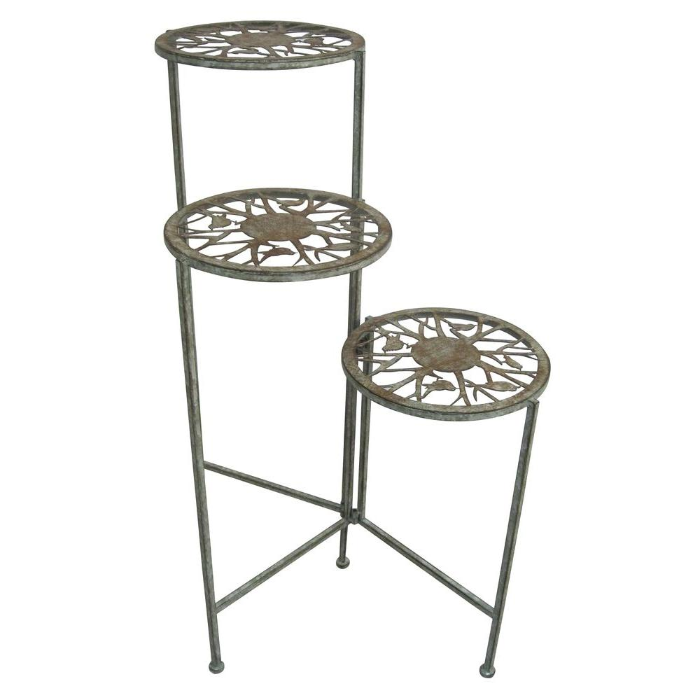3 tier plant stand alpine 3 tier metal plant stand mod106 the home depot 10442