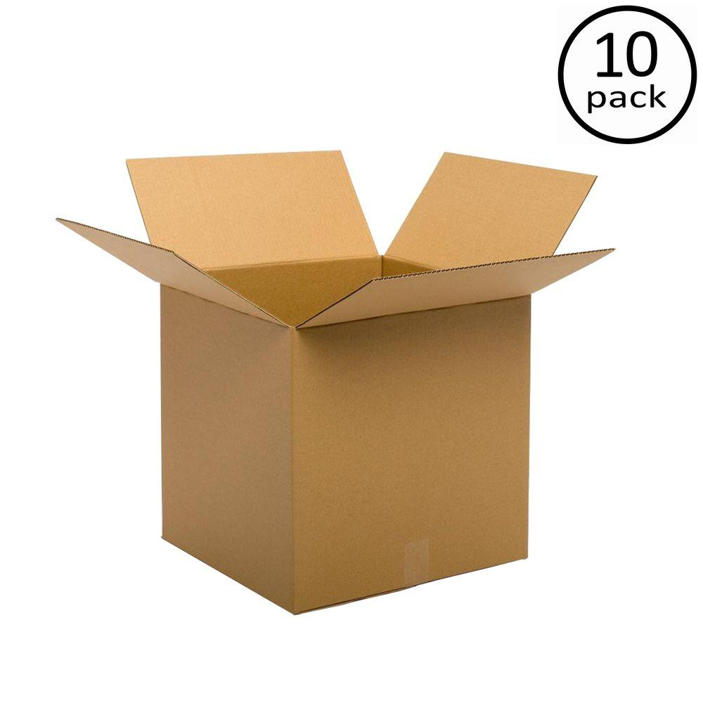 Plain Brown Box 18 in. x 18 in. x 18 in. 48 ECT Double Wall 10-Box Bundle