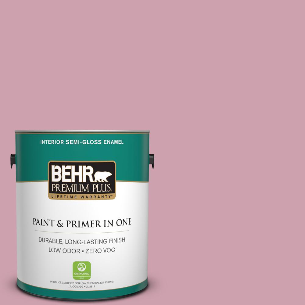 BEHR Premium Plus 1-gal. #100C-3 Birthday Candle Zero VOC Semi-Gloss Enamel Interior Paint