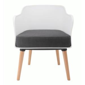 CozyBlock Cali Series White Modern Accent Living Room Arm ...