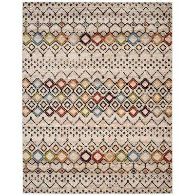 Amsterdam Ivory/Multi 9 ft. x 12 ft. Area Rug