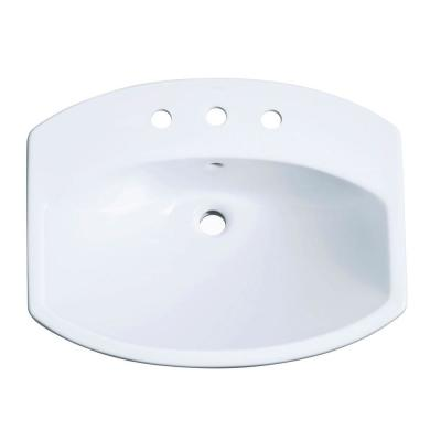 Cimarron Drop-In Vitreous China Bathroom Sink in White