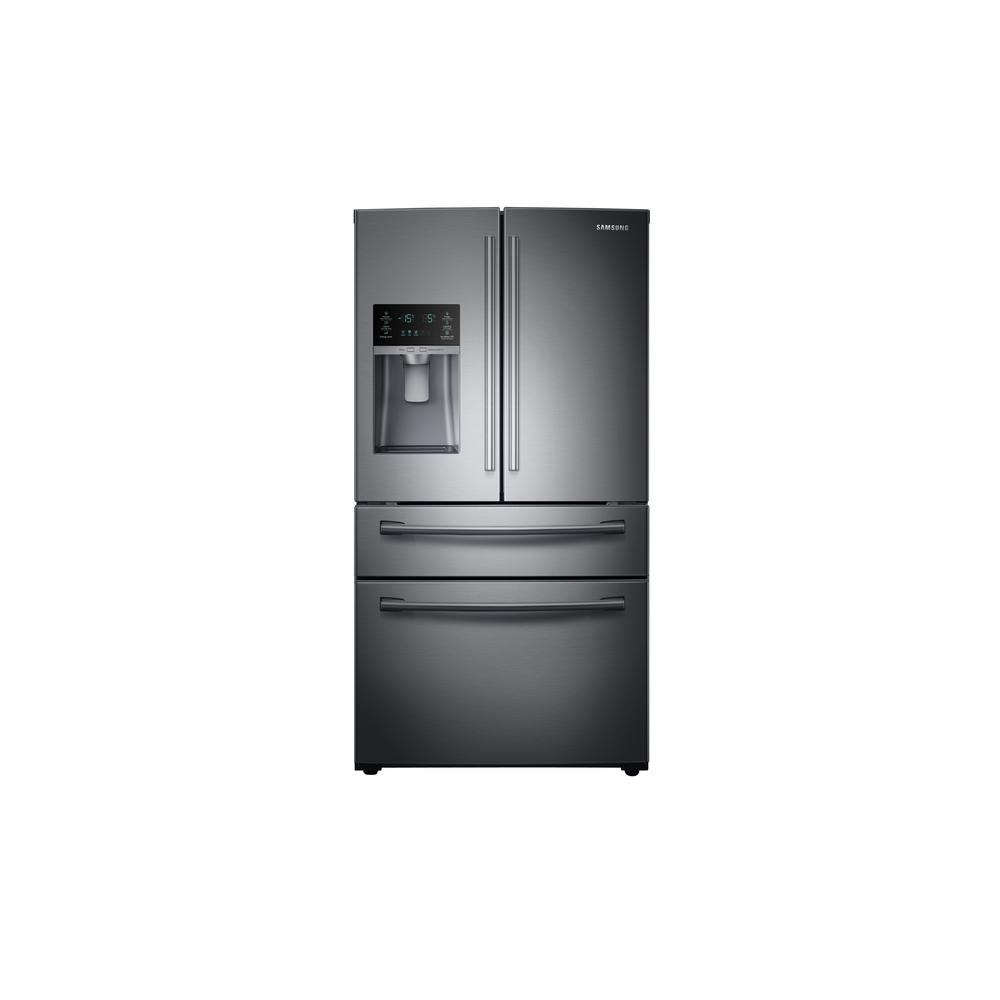 Samsung 28.15 cu. ft. 4-Door French Door Refrigerator in Fingerprint Resistant Black Stainless