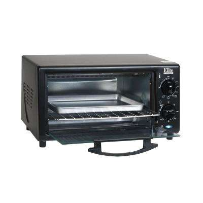 4-Slice Black Toaster Oven Broiler