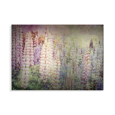 "40 in. x 28 in. ""Bright Metallic Meadow"" Printed Wall Art"