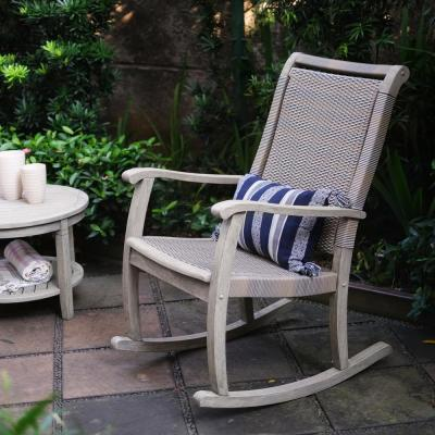 Clayton Weathered Gray Wood Outdoor Rocking Chair