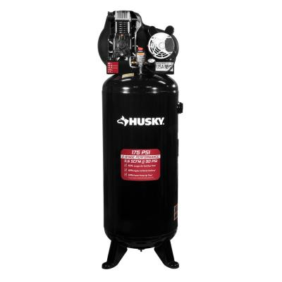 60 Gal. 3.7 HP 1-Phase 175 PSI Oil Lubed Belt Drive Stationary Electric Air Compressor