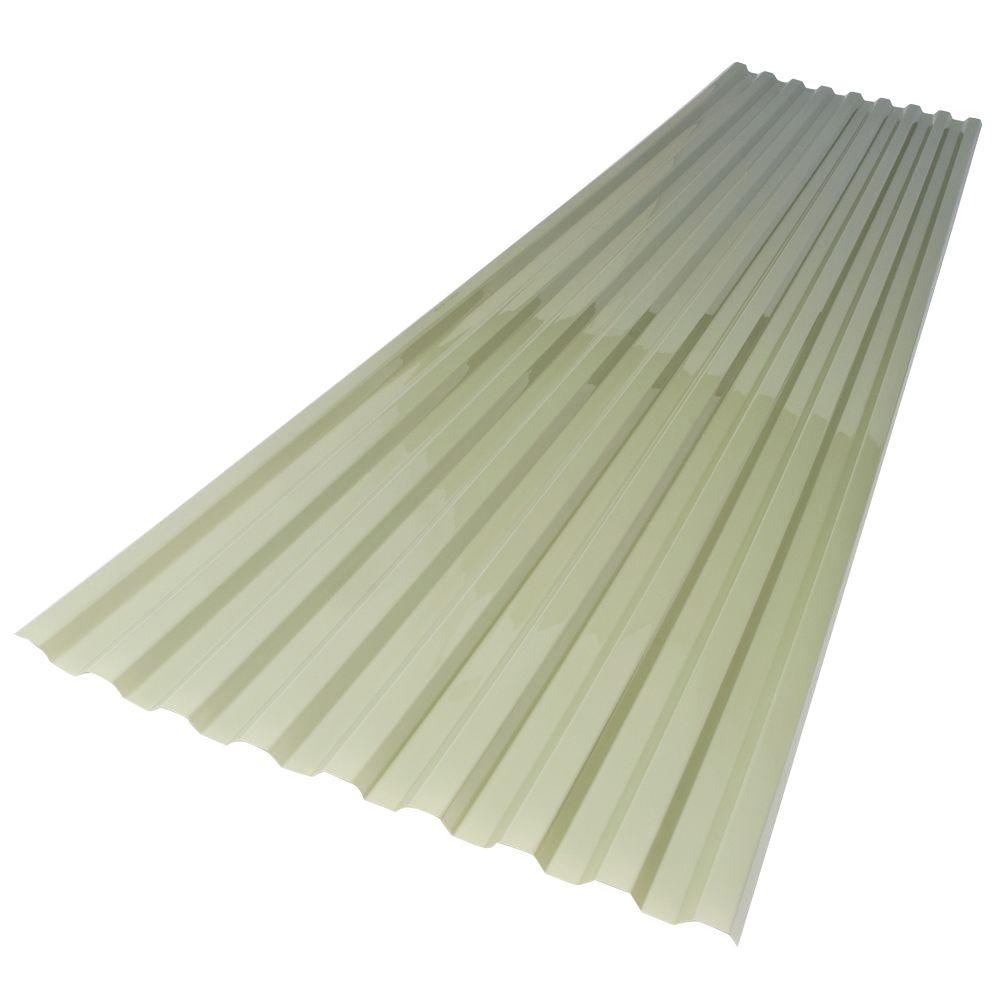 26 in. x 6 ft. Misty Green Polycarbonate Roof Panel