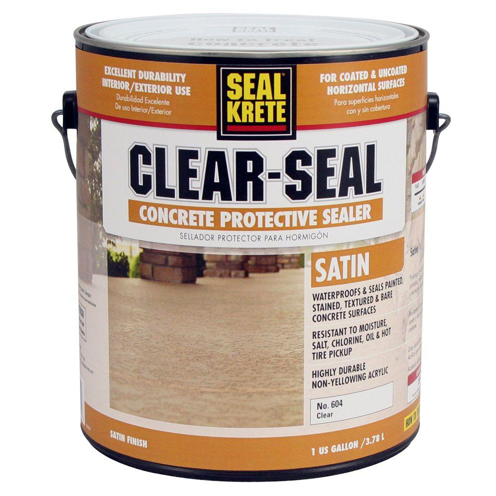 seal krete 1 gal satin clear seal concrete protective On concrete paint and sealer