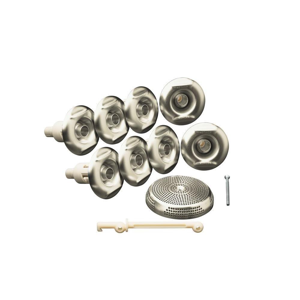 null Flexjet Whirlpool Trim Kit in Vibrant Brushed Nickel