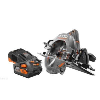 18-Volt Cordless Brushless 7-1/4 in. Circular Saw with 4.0 Ah Lithium-Ion Battery and Charger