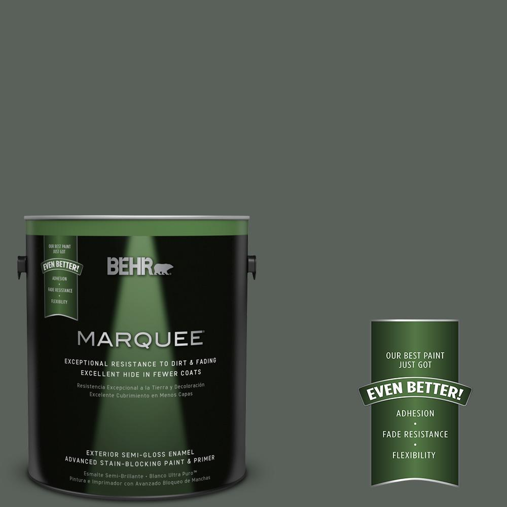 BEHR MARQUEE 1-gal. #PPF-45 Woodland Moss Semi-Gloss Enamel Exterior Paint