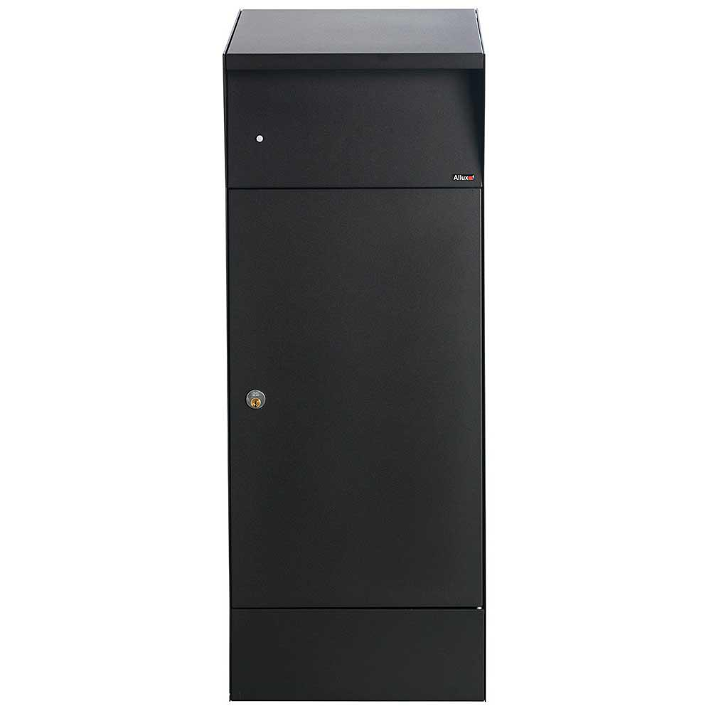 Allux Bjorn Black Freestanding Locking Parcel/Mailbox