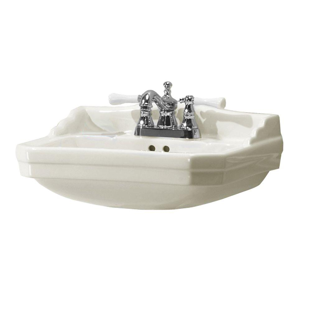 D Pedestal Sink Basin In Biscuit F 1920 4BI   The Home Depot