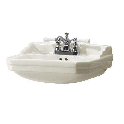 Series 1920 19.125 in. D Pedestal Sink Basin in Biscuit