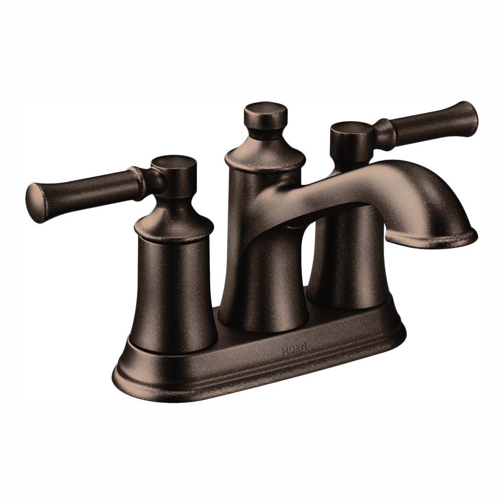 MOEN Dartmoor 4 in. Centerset 2-Handle Bathroom Faucet in Oil Rubbed Bronze