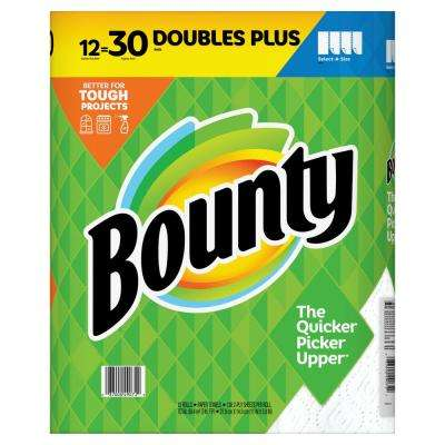 Select A Size White Paper Towel Rolls (12 Double Plus)