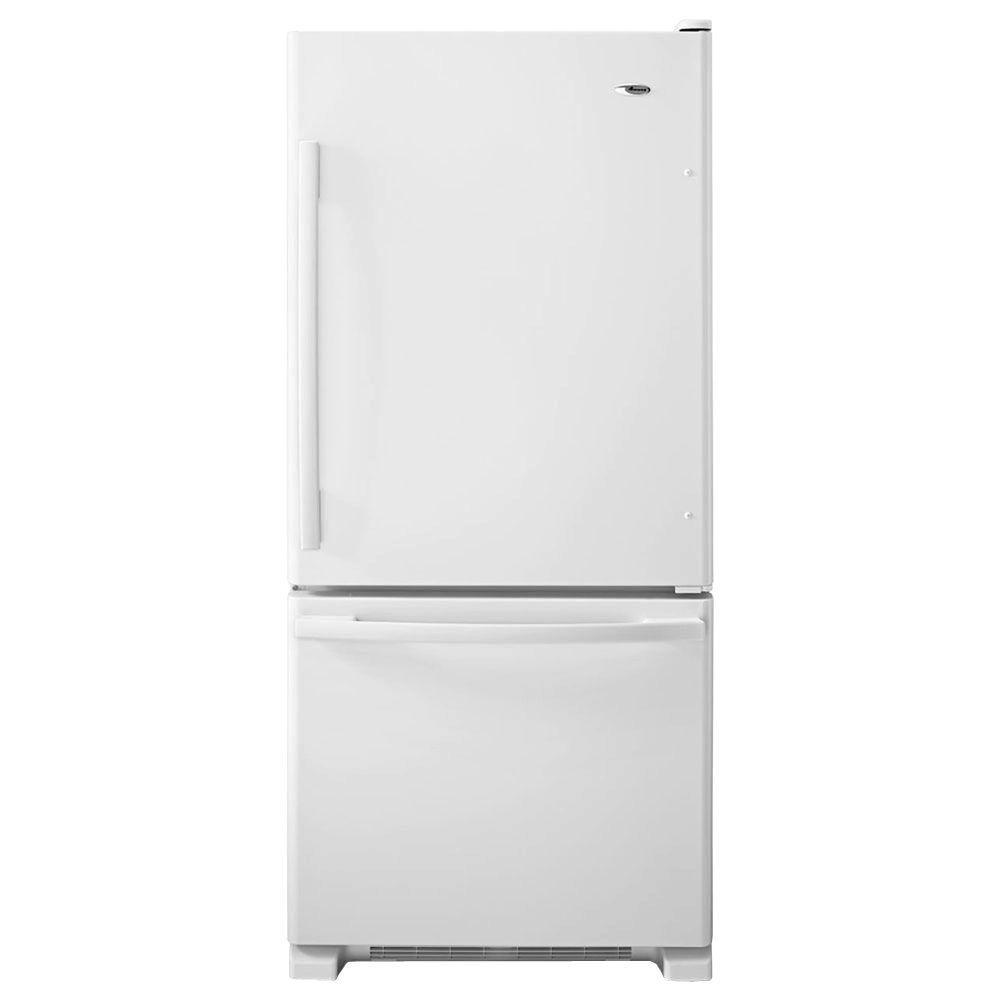 Amana 30 in. W 18.7 cu. ft. Bottom Freezer Refrigerator in White