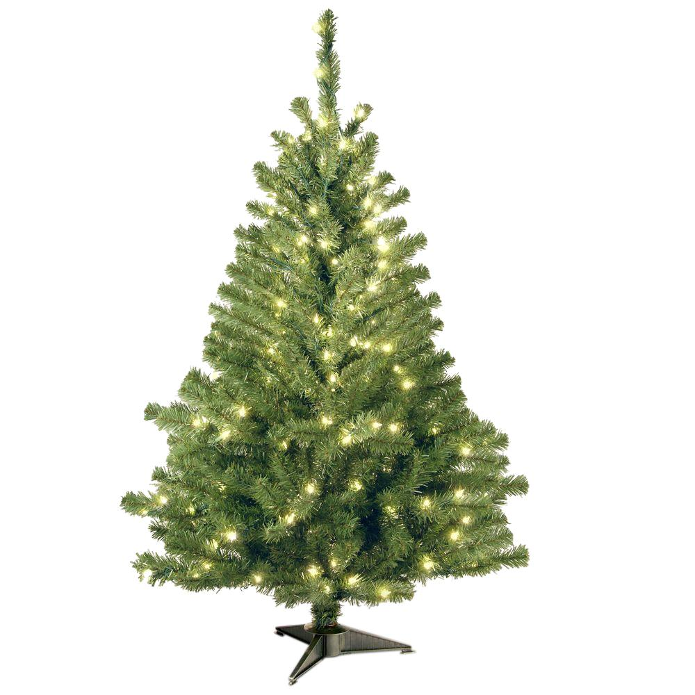 National Tree Company 4 Ft Kincaid Spruce Artificial Christmas With Clear Lights