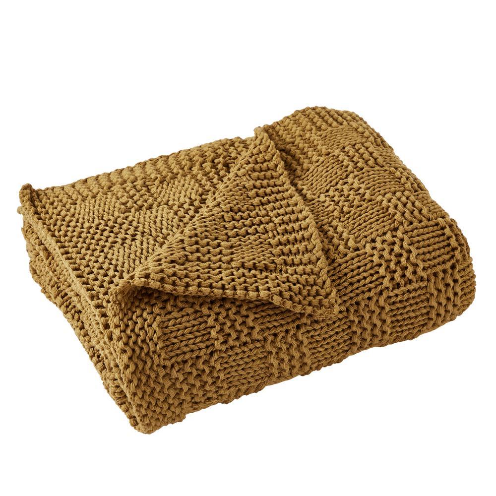 Phelon Knit Gold throw
