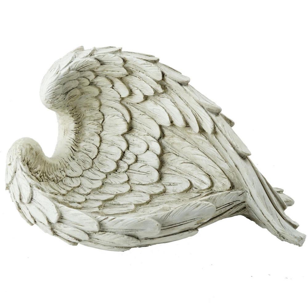 6.5 in. Decorative Angel Wings Religious Outdoor Garden Statue