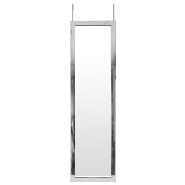 Mirrorize Canada Large Rectangle Silver Hooks Contemporary Mirror 50 In H X 14 In W Hfm365 The Home Depot