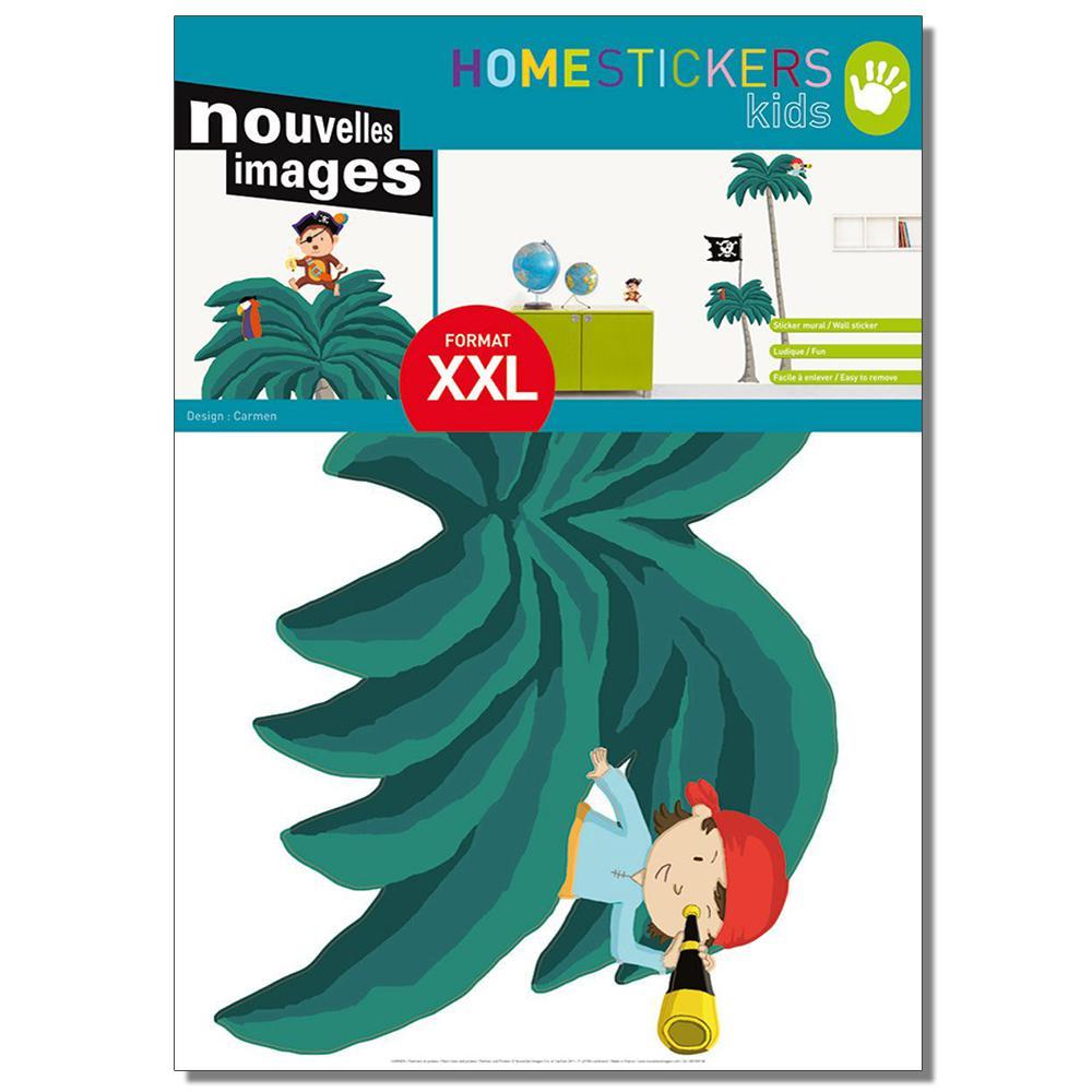Multicolor XXL Palmiers et Pirates Home Sticker