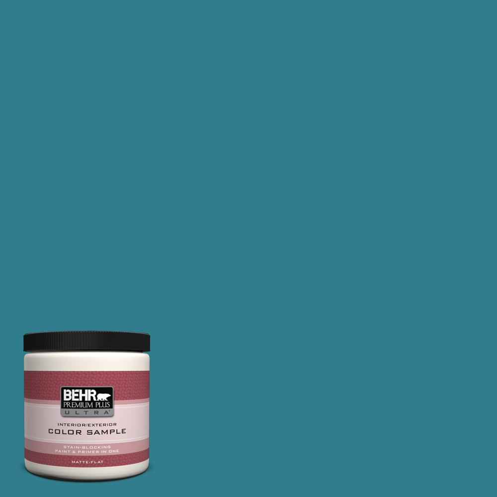 behr premium plus ultra 8 oz home decorators collection calypso blue interior exterior paint. Black Bedroom Furniture Sets. Home Design Ideas