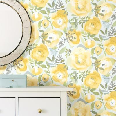 Peel Stick Removable Floral Wallpaper Home Decor The Home Depot