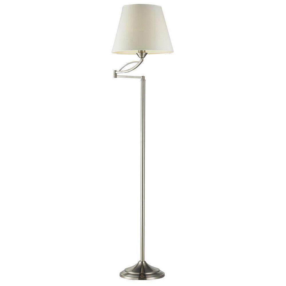 Titan Lighting Elysburg 56 in. Satin Nickel Floor Lamp