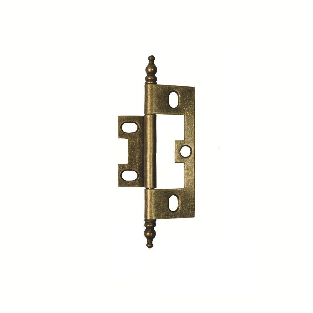 2-1/2 in. x 1-1/2 in. Antique Brass Furniture Barrel Hinge