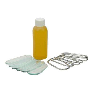 Level Repair Recondition Kit with Glass Covers, Steel Retaining Rings and Linseed Oil