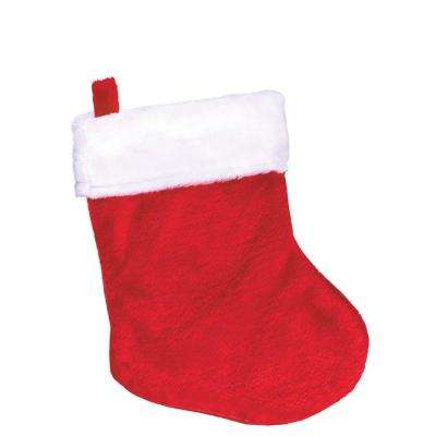 5 in. x 2.5 in. Plush Christmas Stockings (13-Pack)