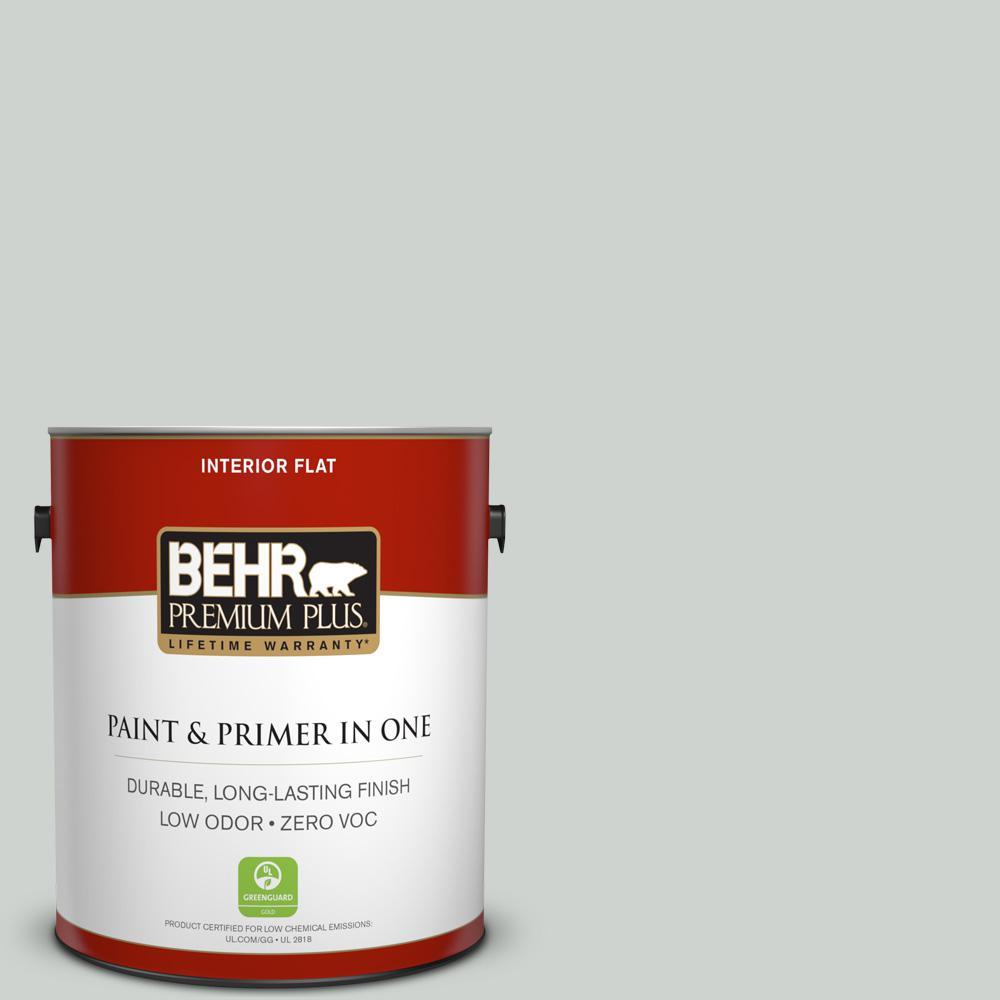1 gal. #PPU12-11 Salt Glaze Zero VOC Flat Interior Paint