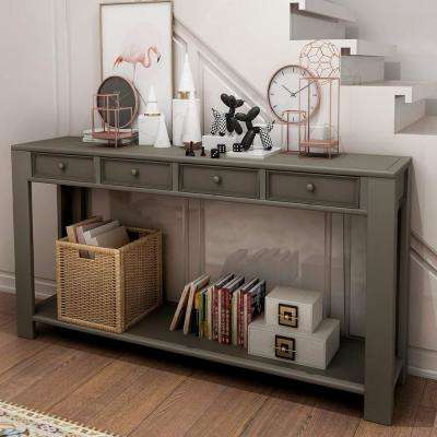 Grey Grange Regency Console Table with 4-Drawer