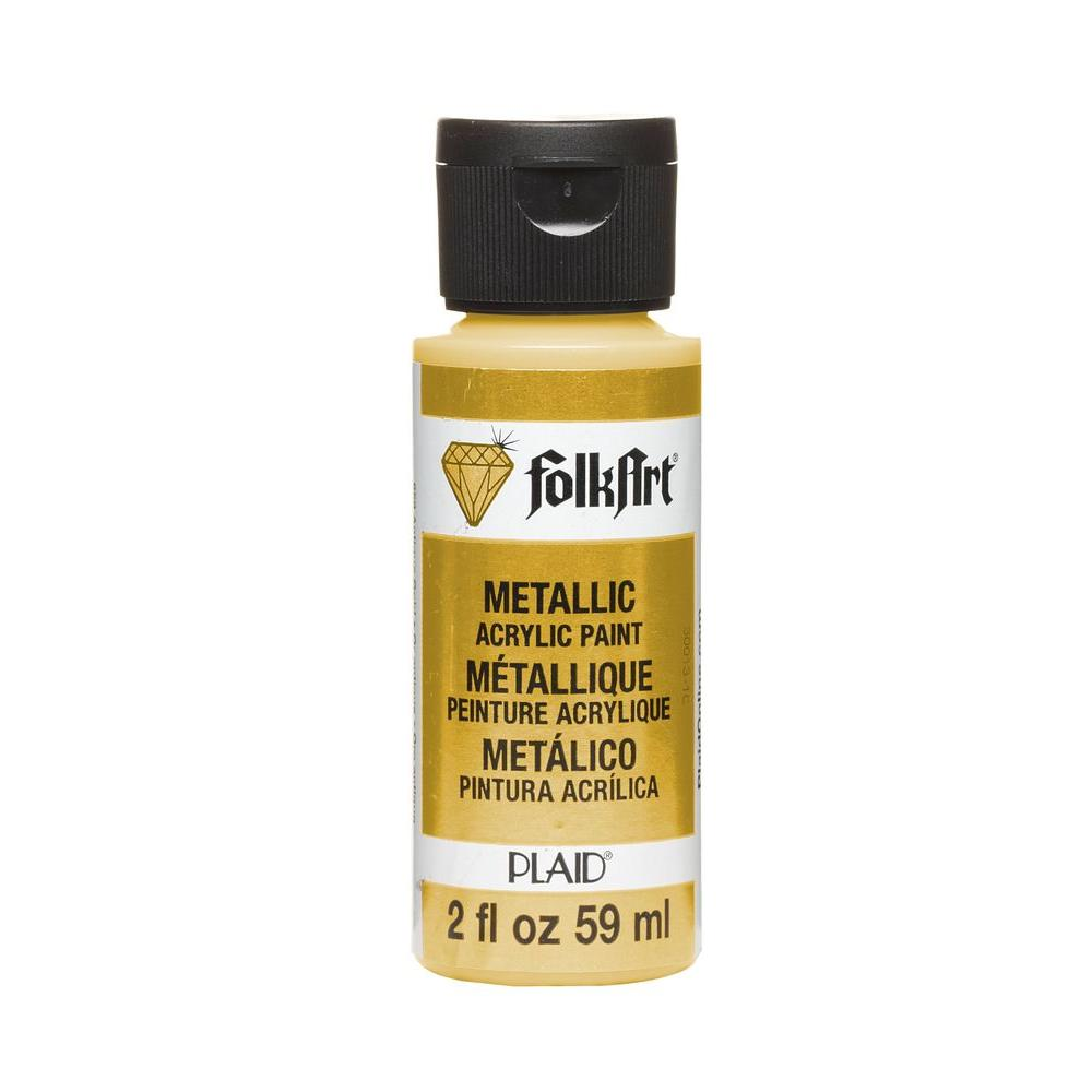 FolkArt 2 oz. Inca Gold Metallic Craft Paint