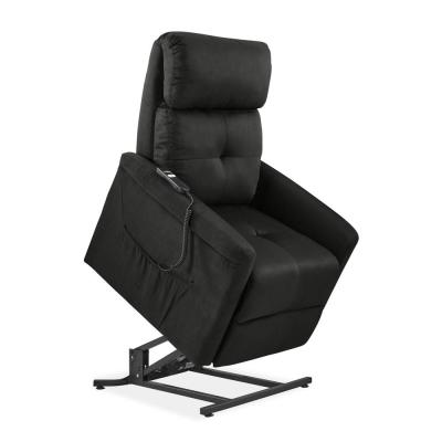 Gray Microfiber Power Recline and Lift Chair