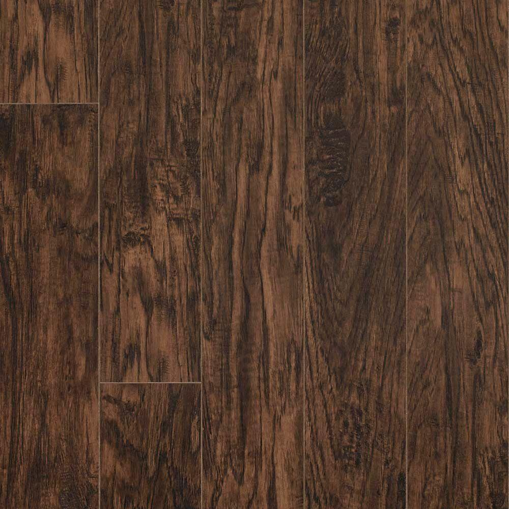 Pergo XP Coffee Handscraped Hickory 10 mm Thick x 5-1/4 in. Wide x 47-1/4 in. Length Laminate Flooring (13.74 sq. ft. / case)